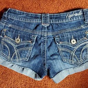 Hydraulic distressed denim shorts size 9/10